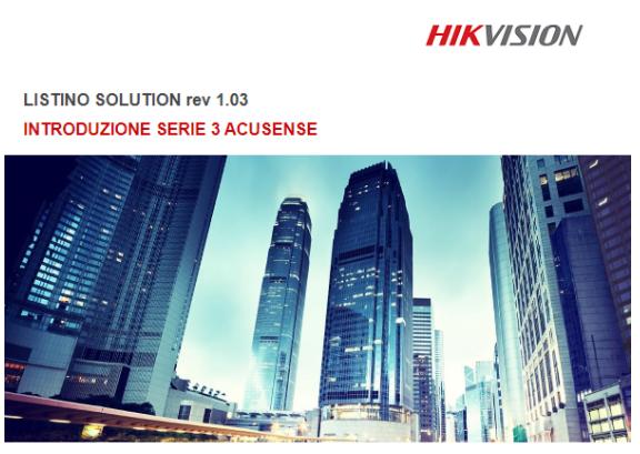 LISTINO HIKVISION SOLUTION REV 1.03