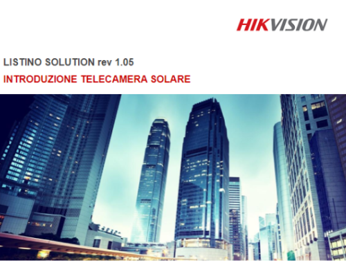 HIKVISION, LISTINO SOLUTION REV 1.05